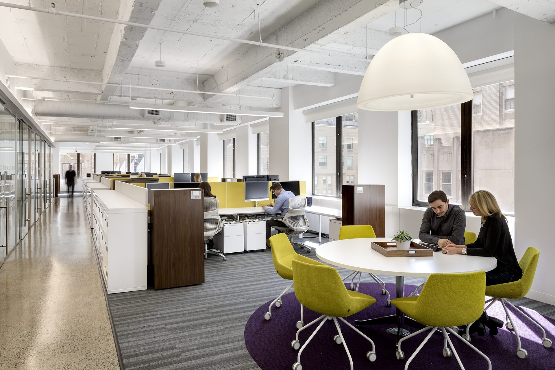 Coworking spaces at the new KPMG Ignition, Innovation, and Insights Center
