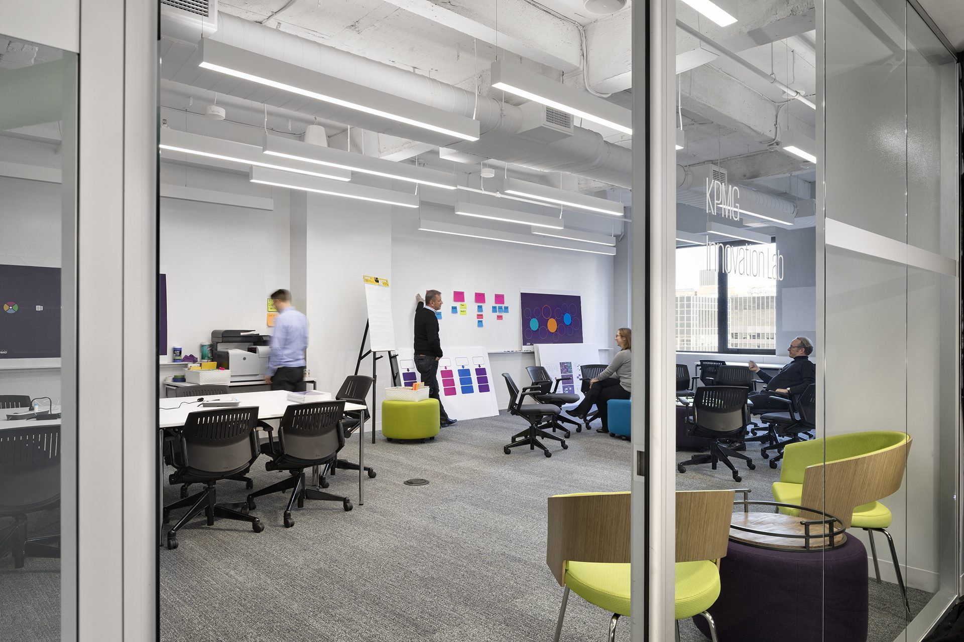 Collaboration lab and workshop space at the new KPMG Ignition, Innovation, and Insights Center