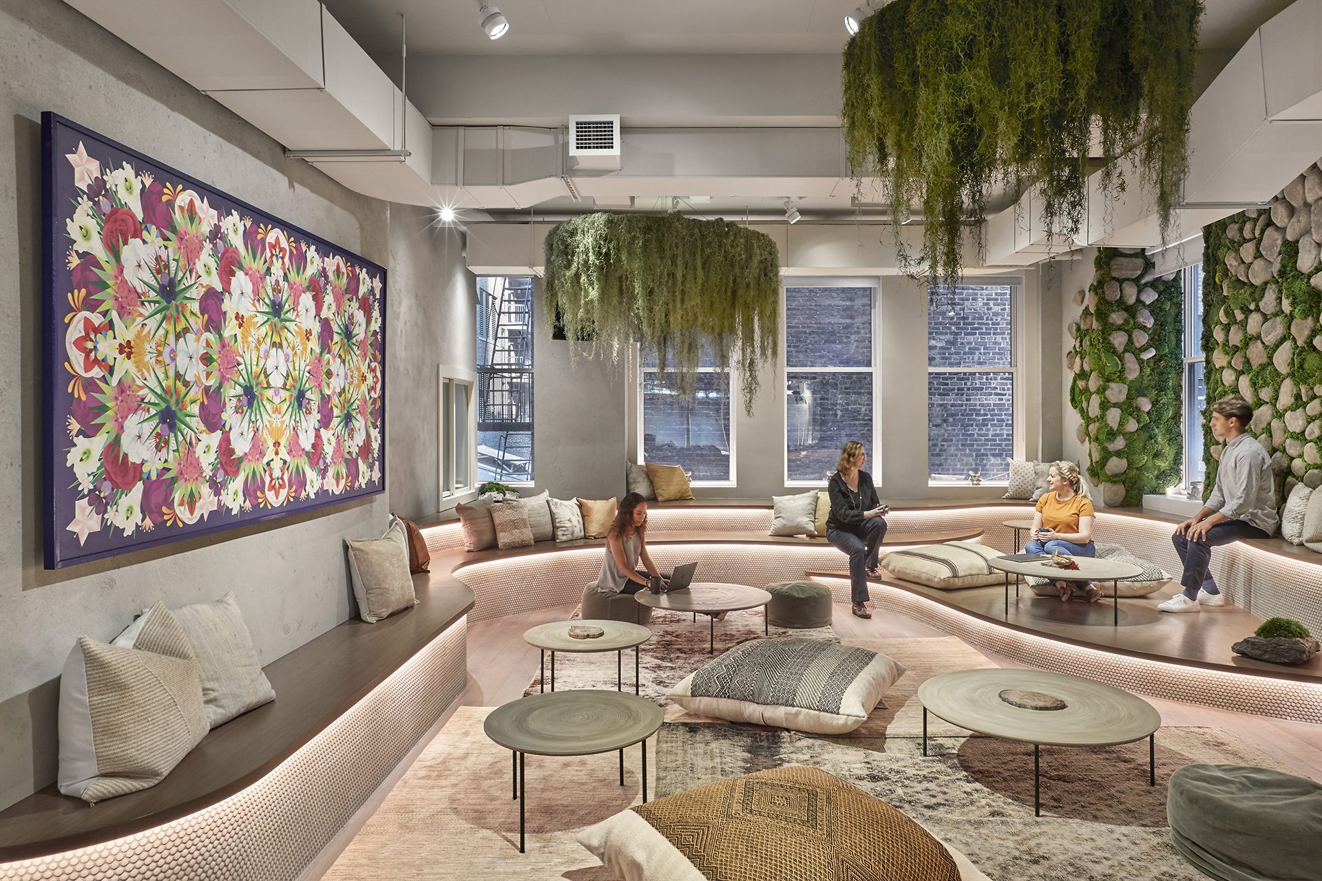 Open community space at The Assemblage Park Avenue House