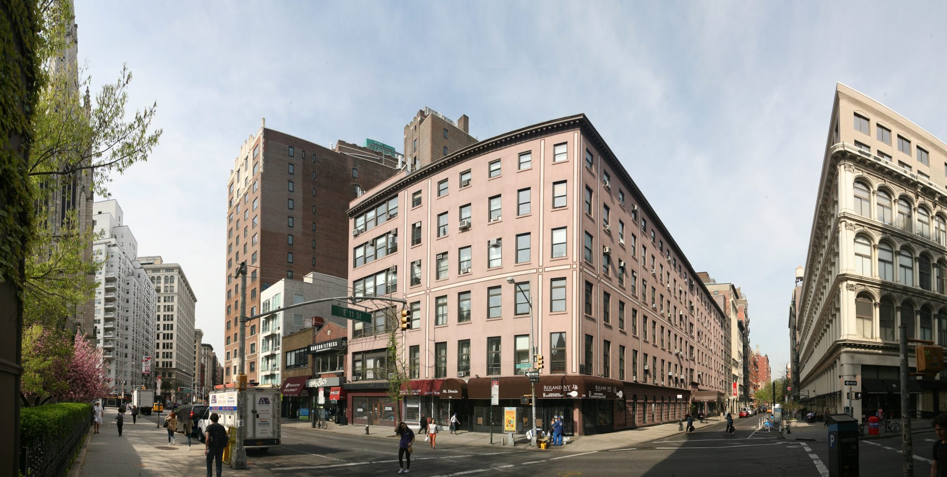 Exterior of the existing Silicon Alley office building