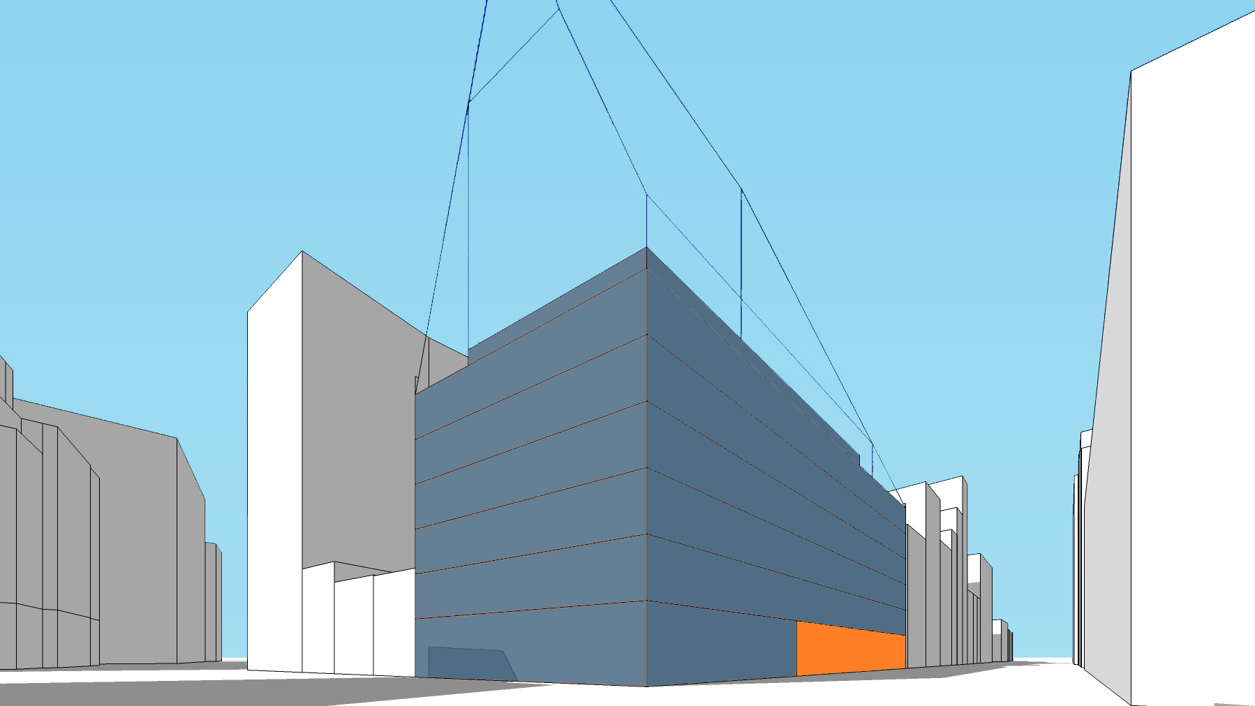 Diagram of the existing development of the Silicon Alley office building