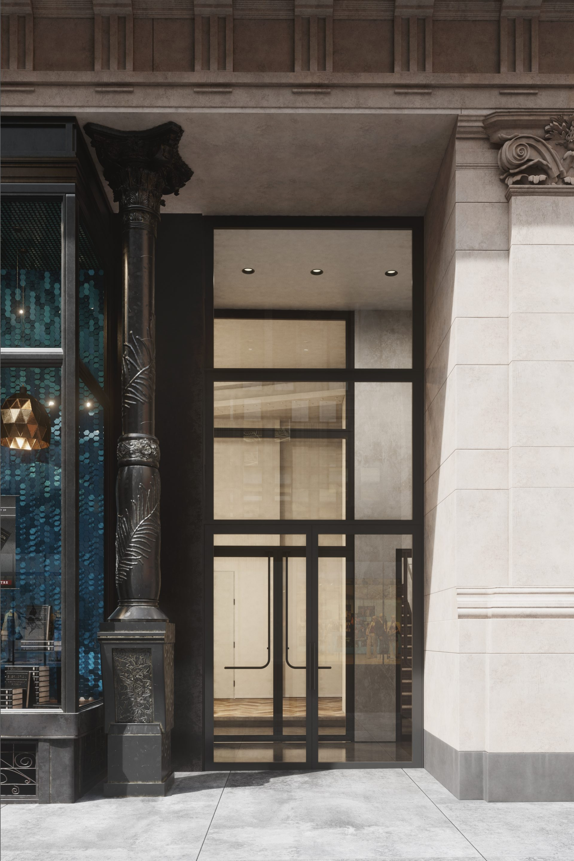 Rendering of the entry at 888 Broadway