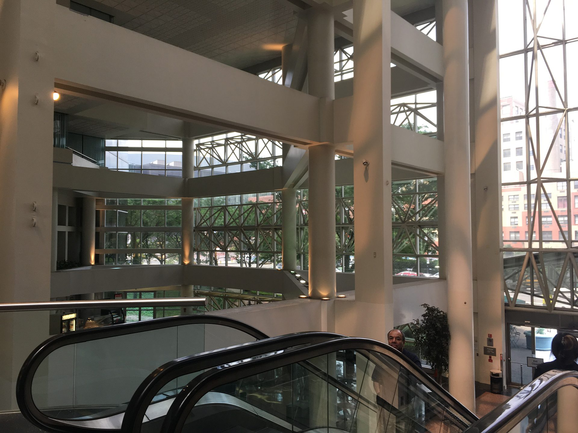 Existing building lobby at 4 Gateway Center