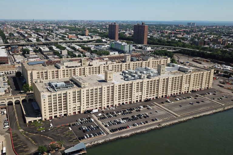 Aerial View of Brooklyn Army Terminal