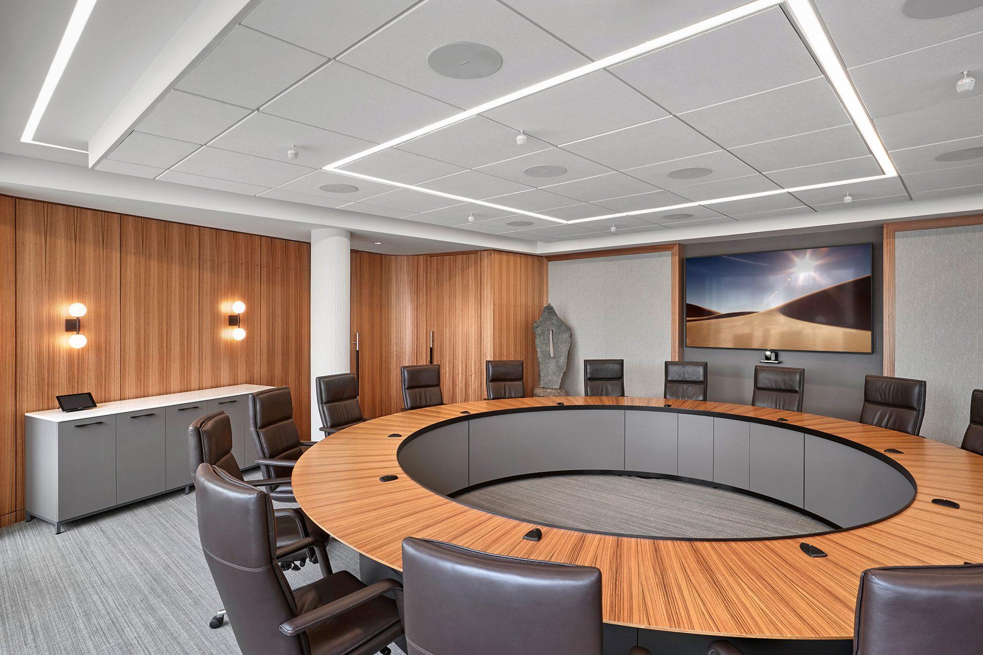 Energy Capital Partners (ECP) board room with custom table