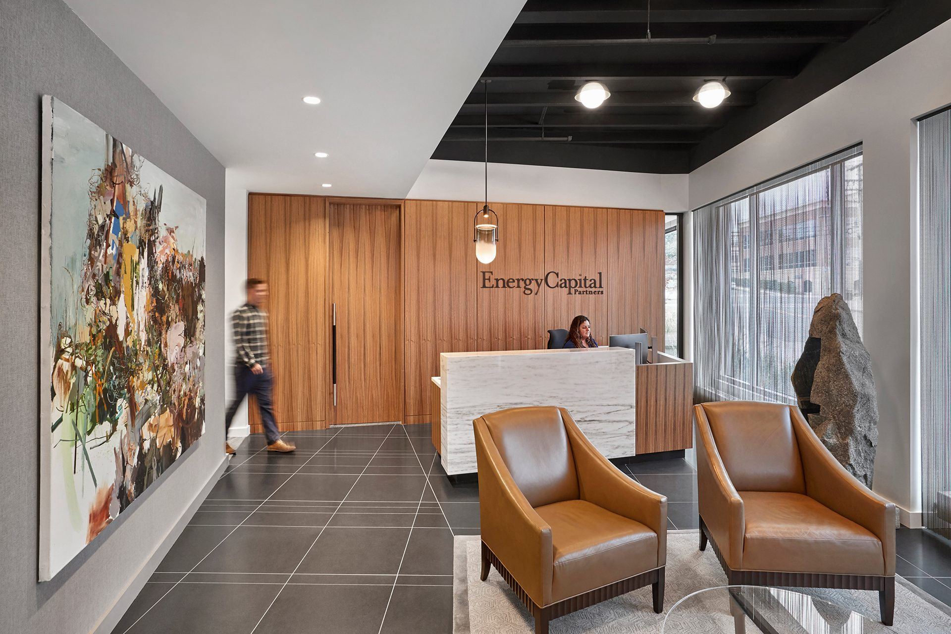 Energy Capital Partners (ECP) reception space