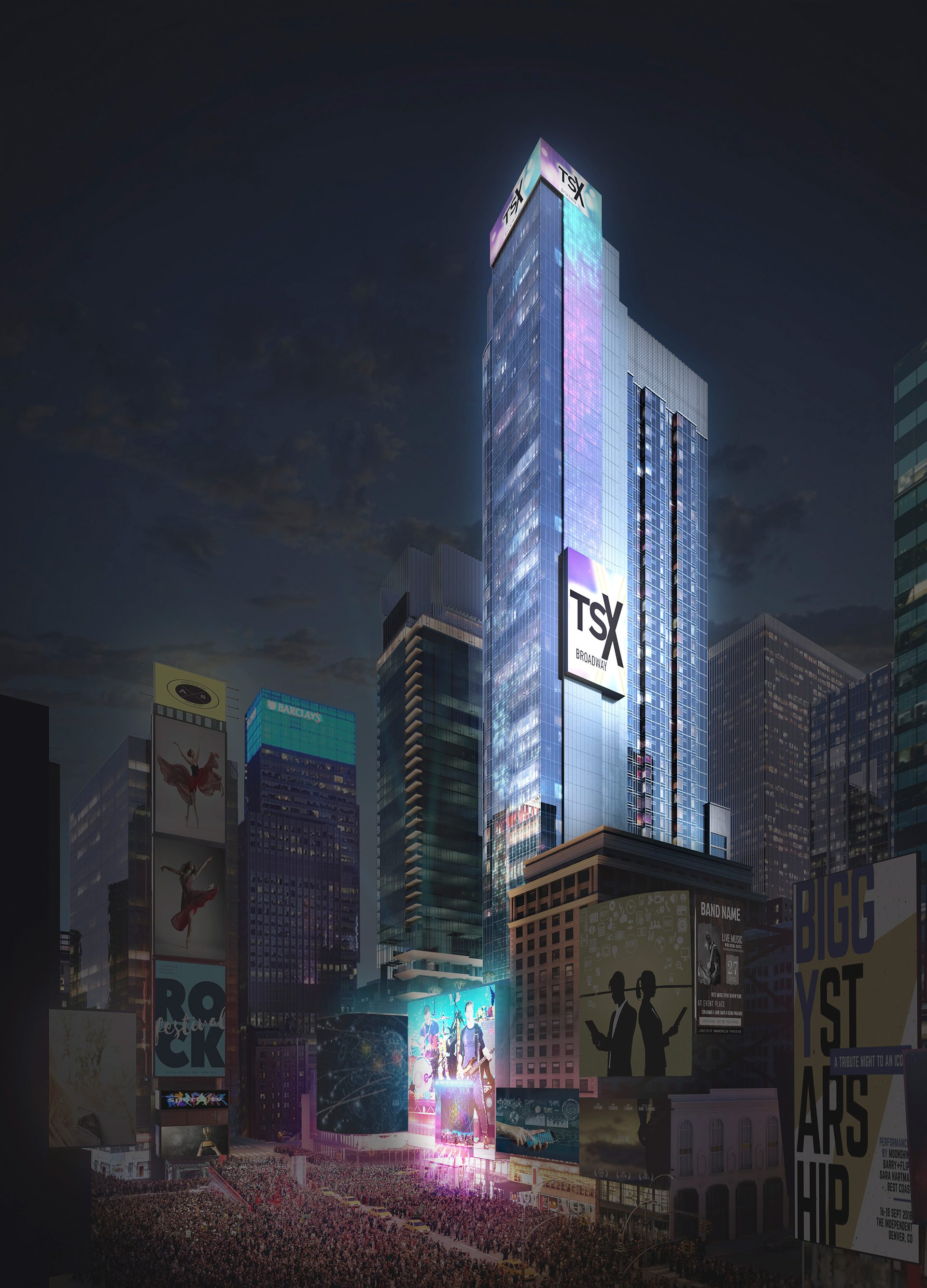Rendering of the new TSX Broadway development