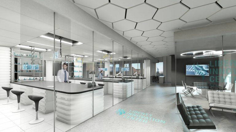 Rendering of proposed science labs at the new Liberty Innovation Centre