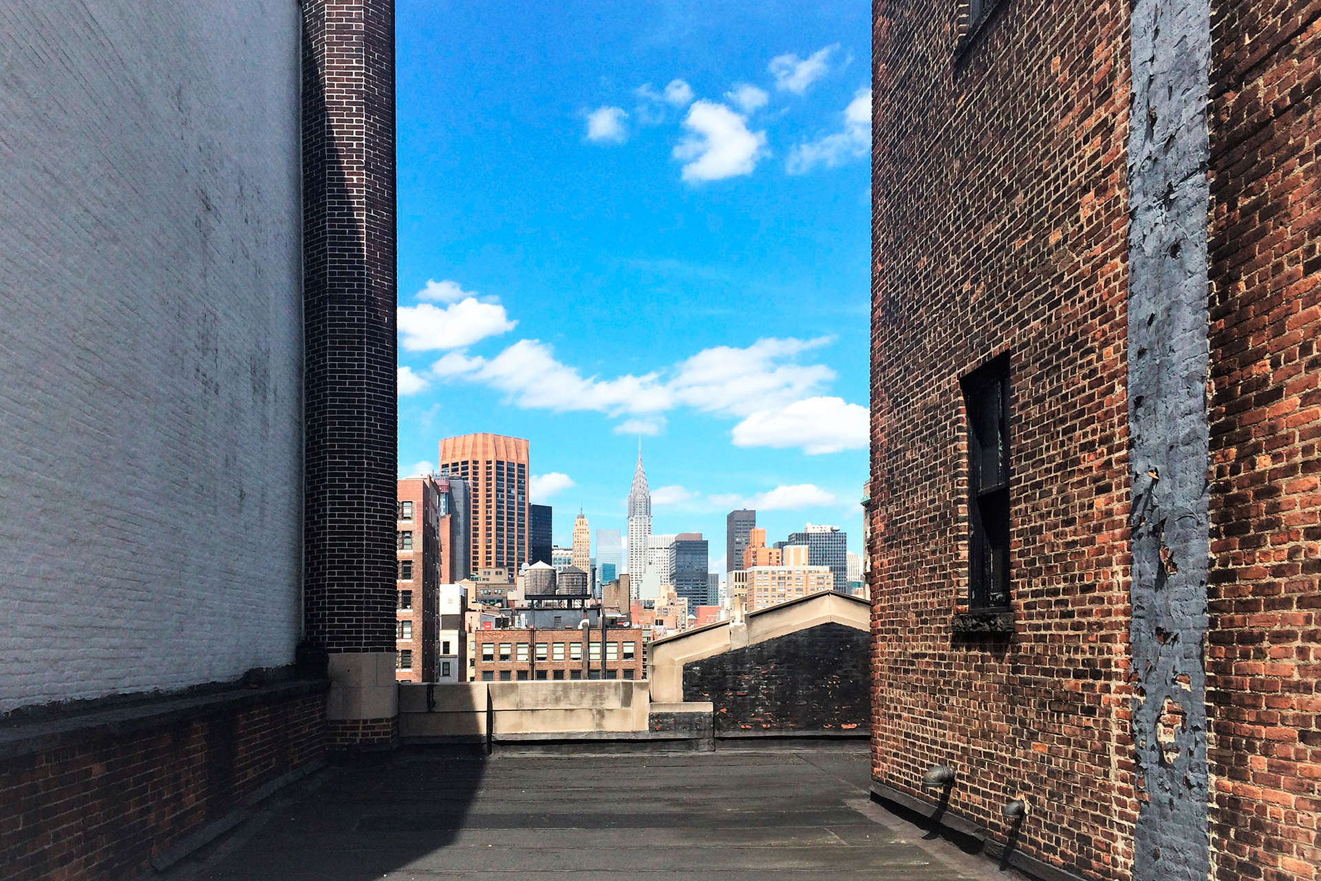 Rooftop space at 114 East 25th Street before the building renovation