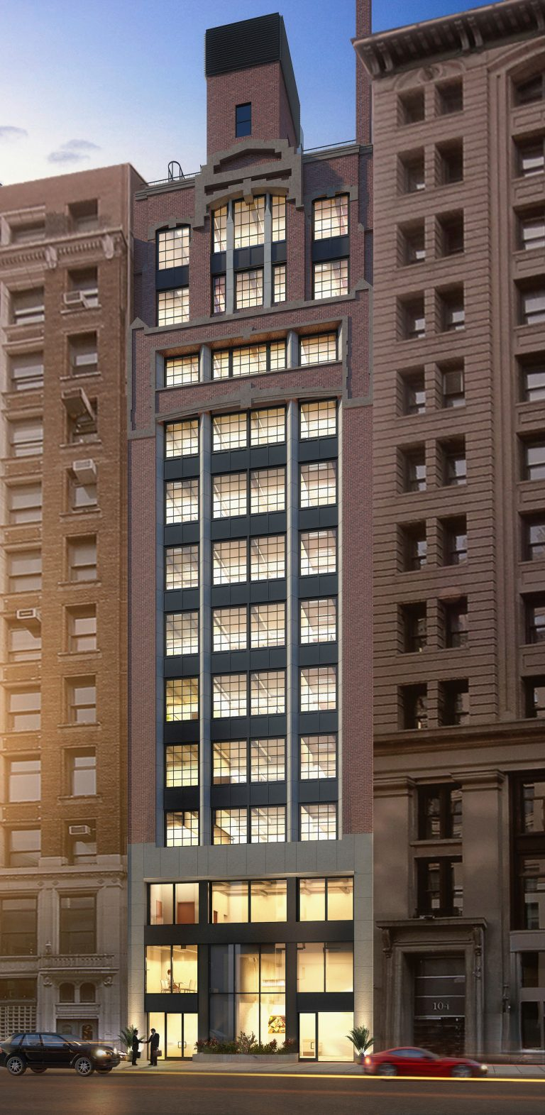 Exterior rendering of 114 East 25th Street before Building Renovation