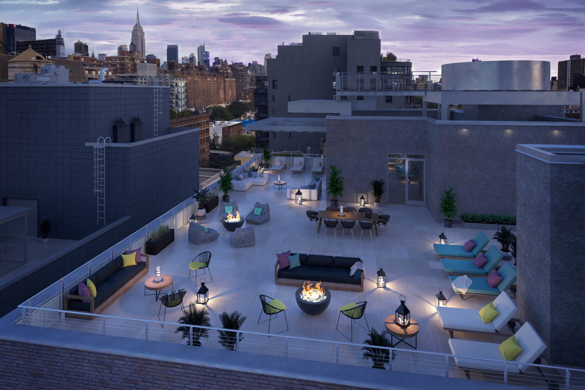 Proposed roof terrace amenity at 541 West 21st Street