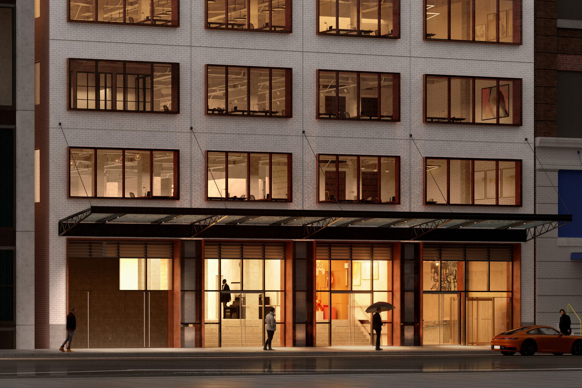 New street-level identity and presence at 541 West 21st Street