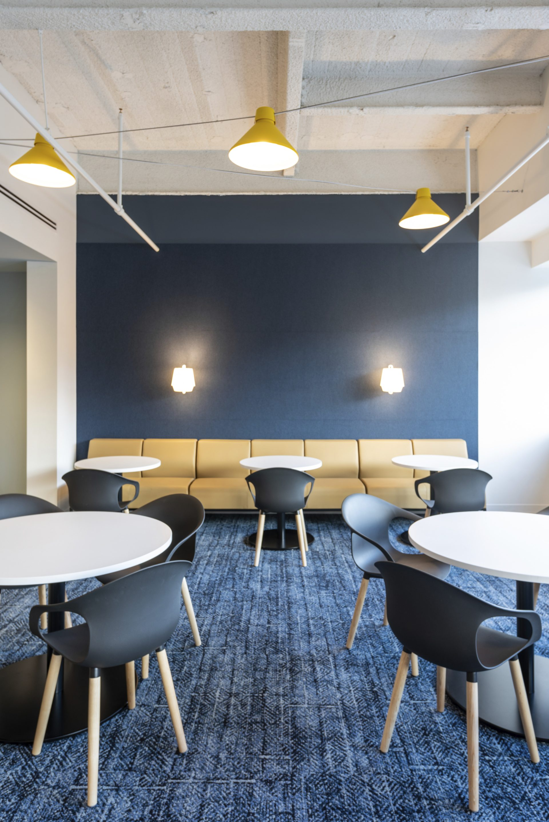 Employee dining space at the new Hayward Industries Headquarters