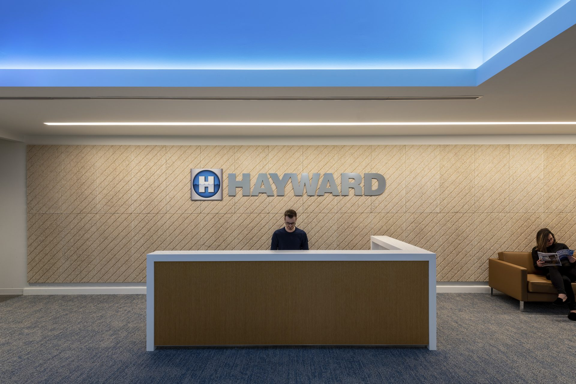 Reception space at the new Hayward Industries Headquarters