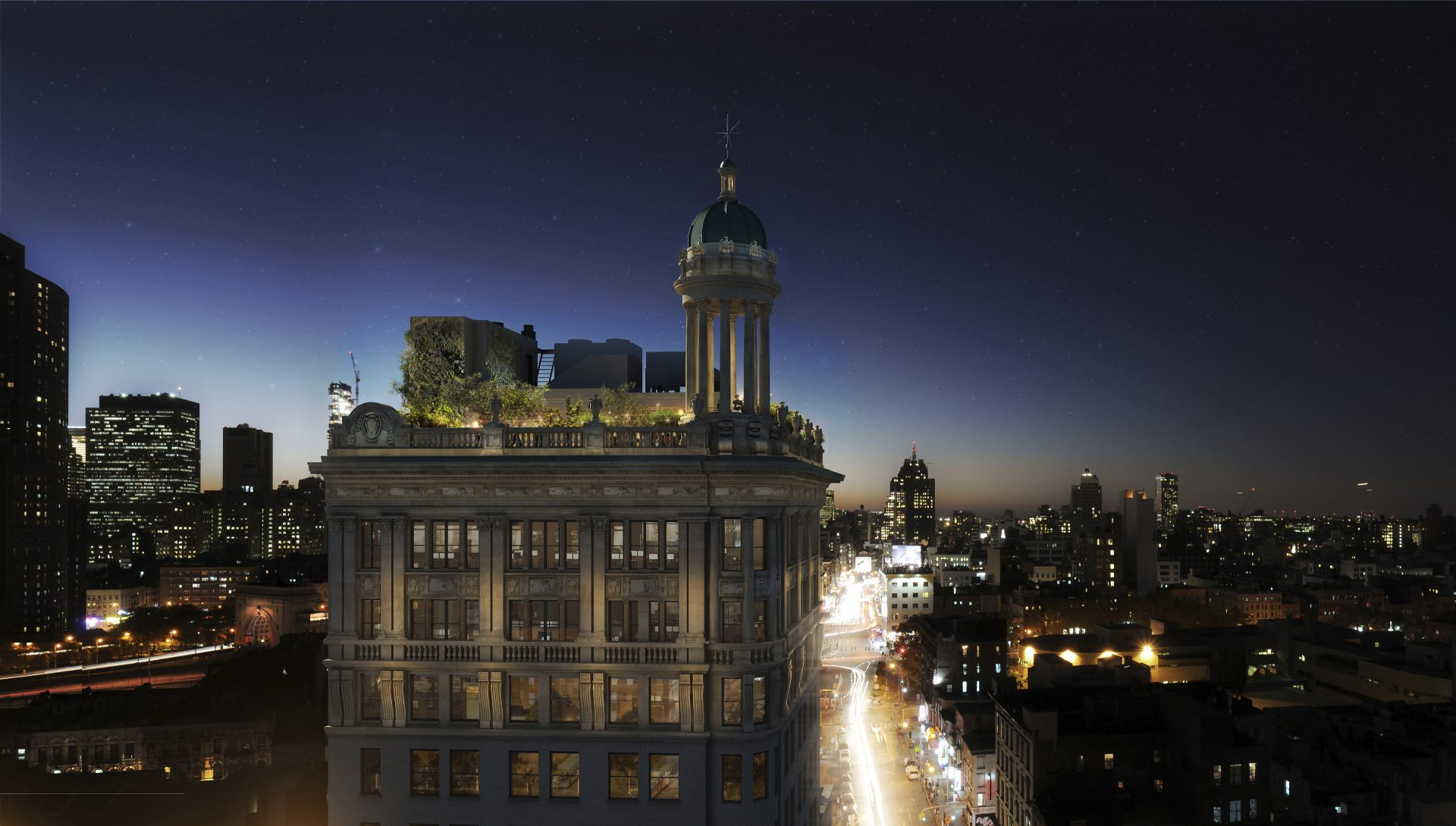 Rooftop view at the newly repositioned 9 Orchard Street