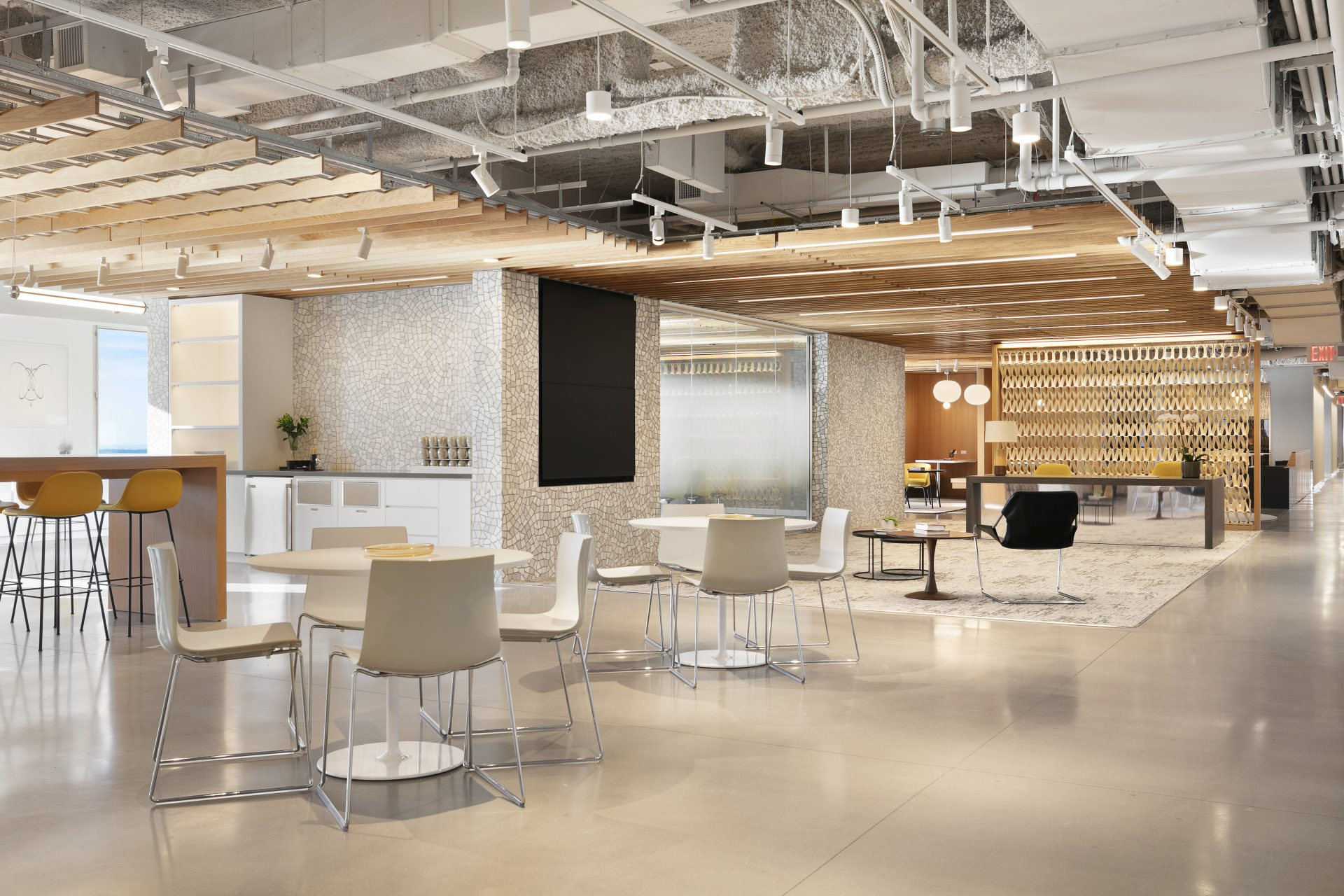 Pantry area at One New York Plaza by Convene and Brookfield