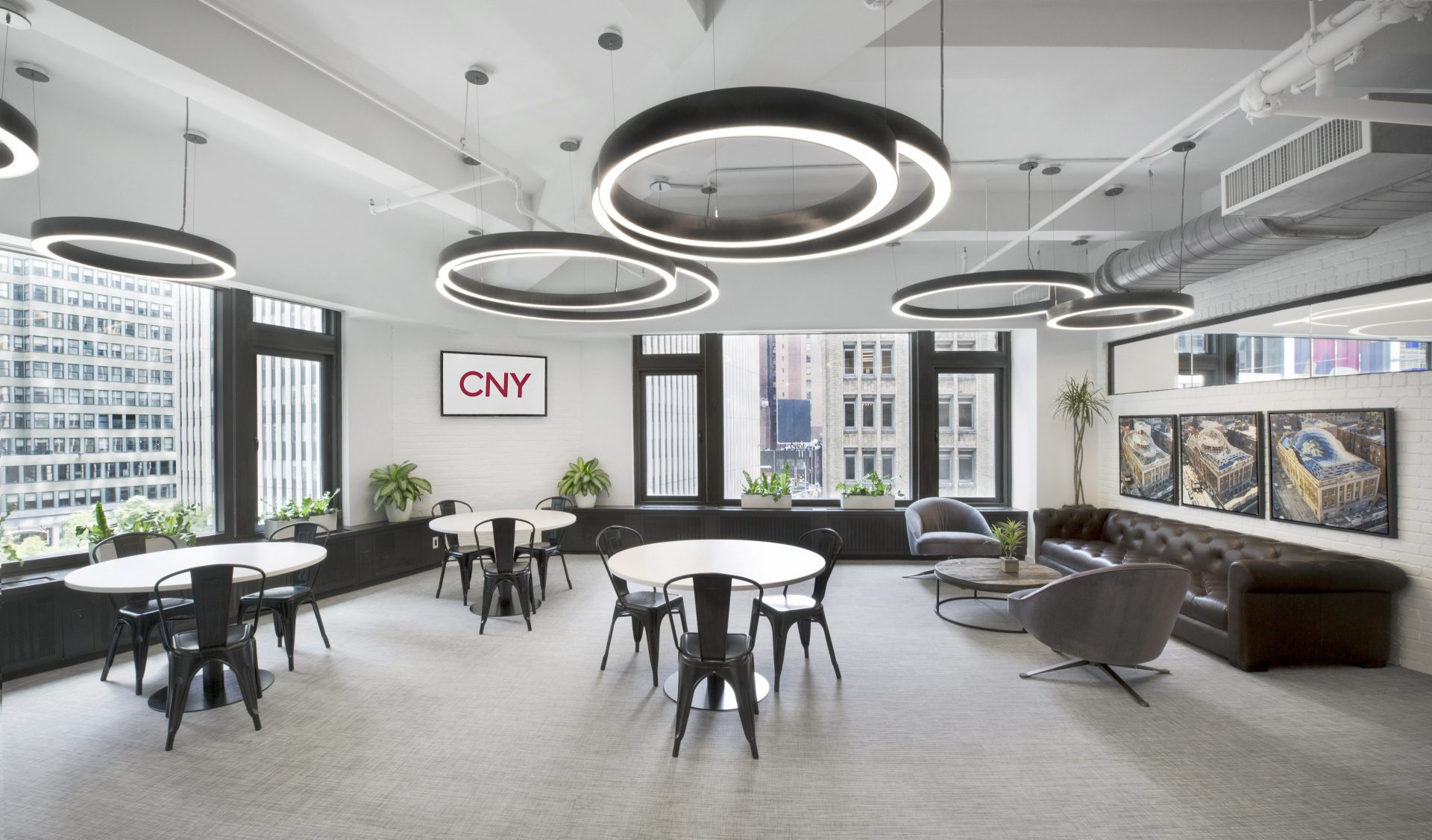 All-hands, multi-purpose space at the new CNY Group Headquarters