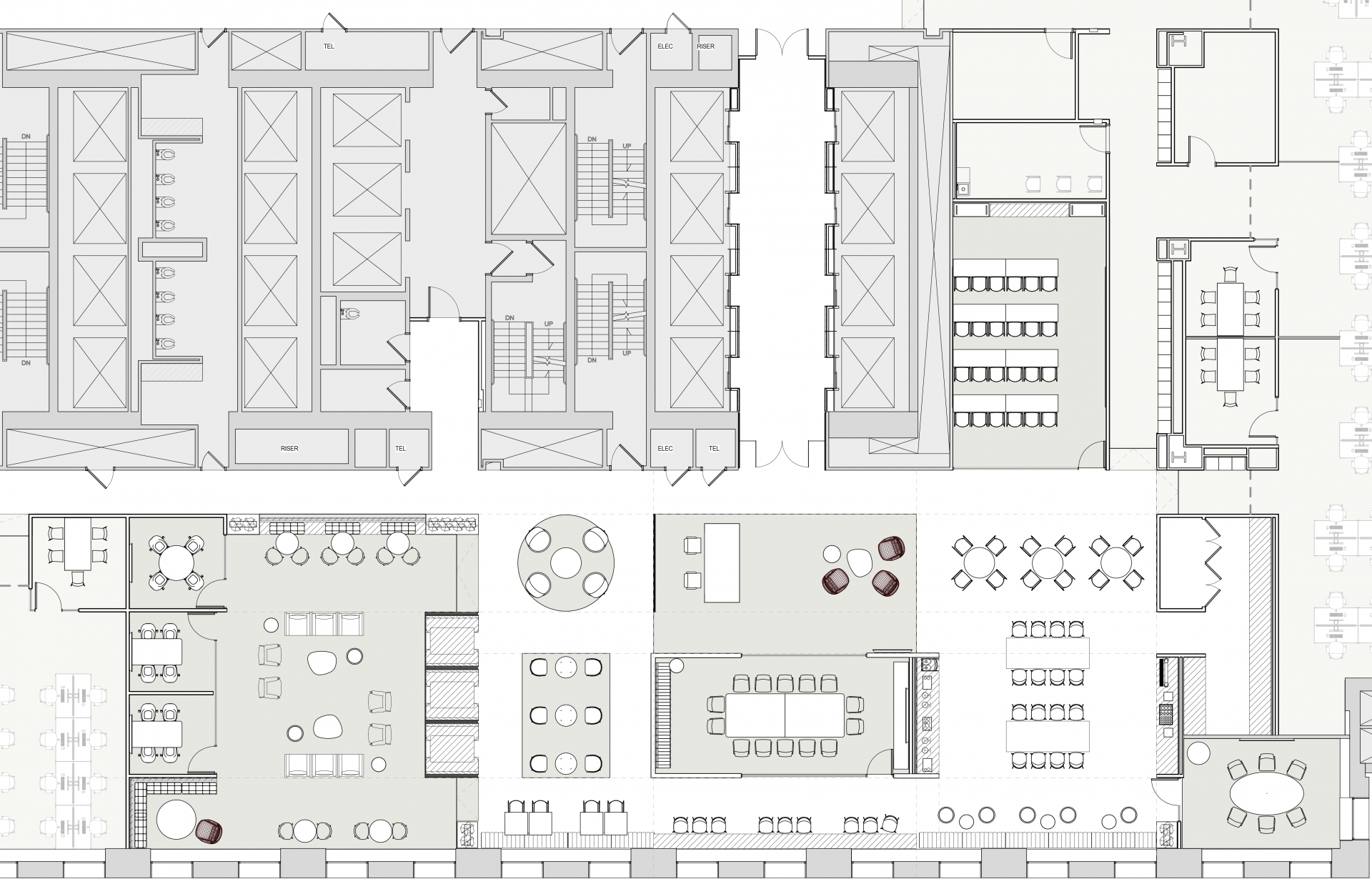 Floorplan of the Village at Brookfield's One New York Plaza coworking space
