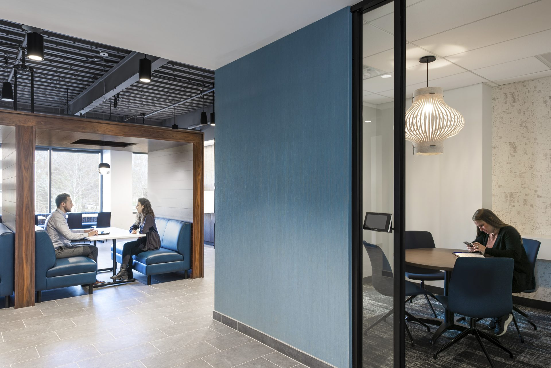 Collaboration spaces at the new Sax LLP Headquarters