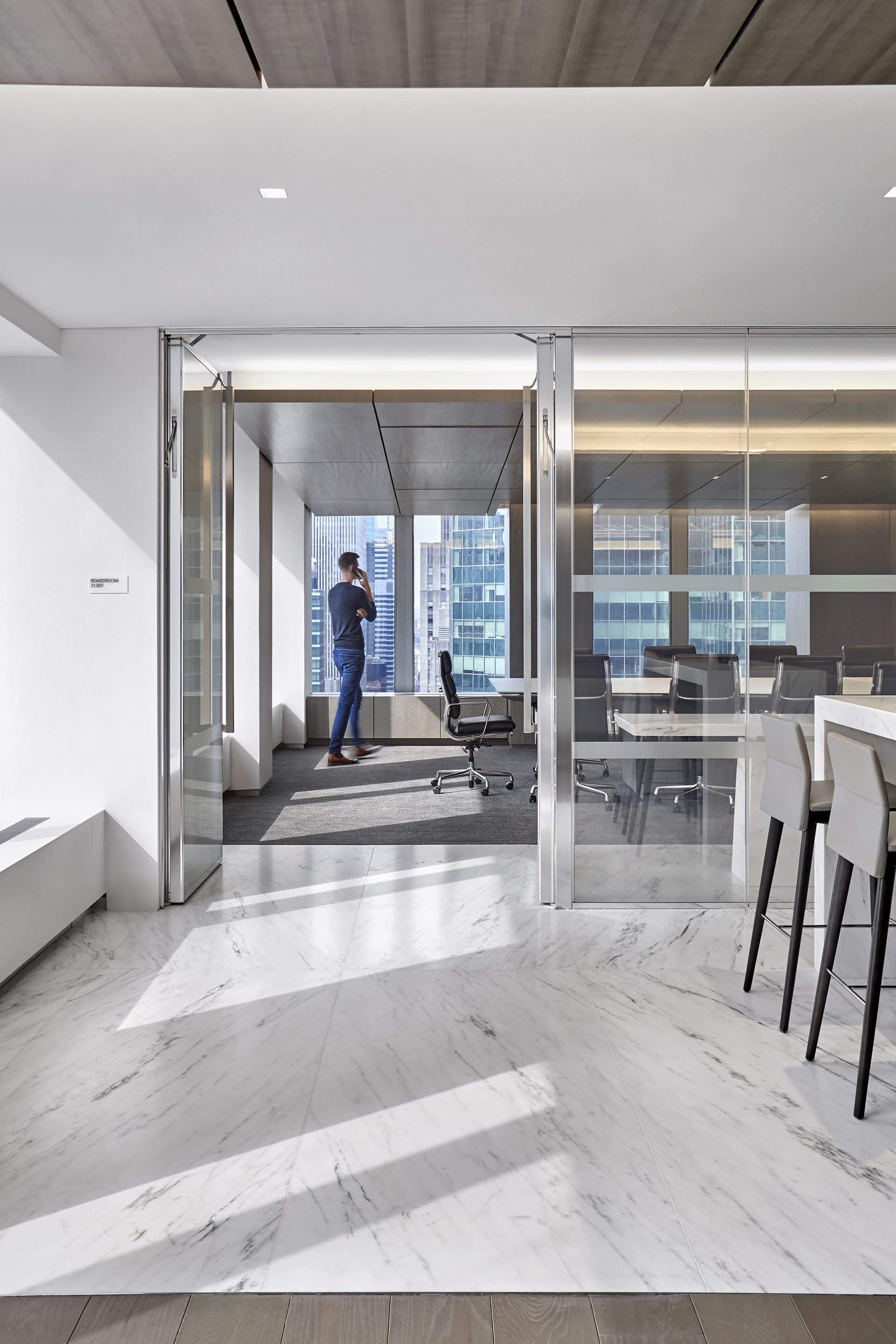 View into the board room at the new Omnicom Headquarters