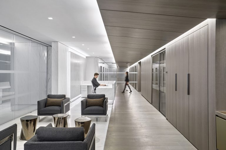 Reception space at the new Omnicom Headquarters