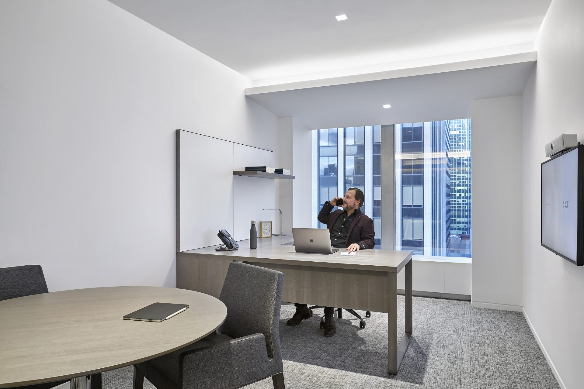 One of five private office types within the new Omnicom Headquarters